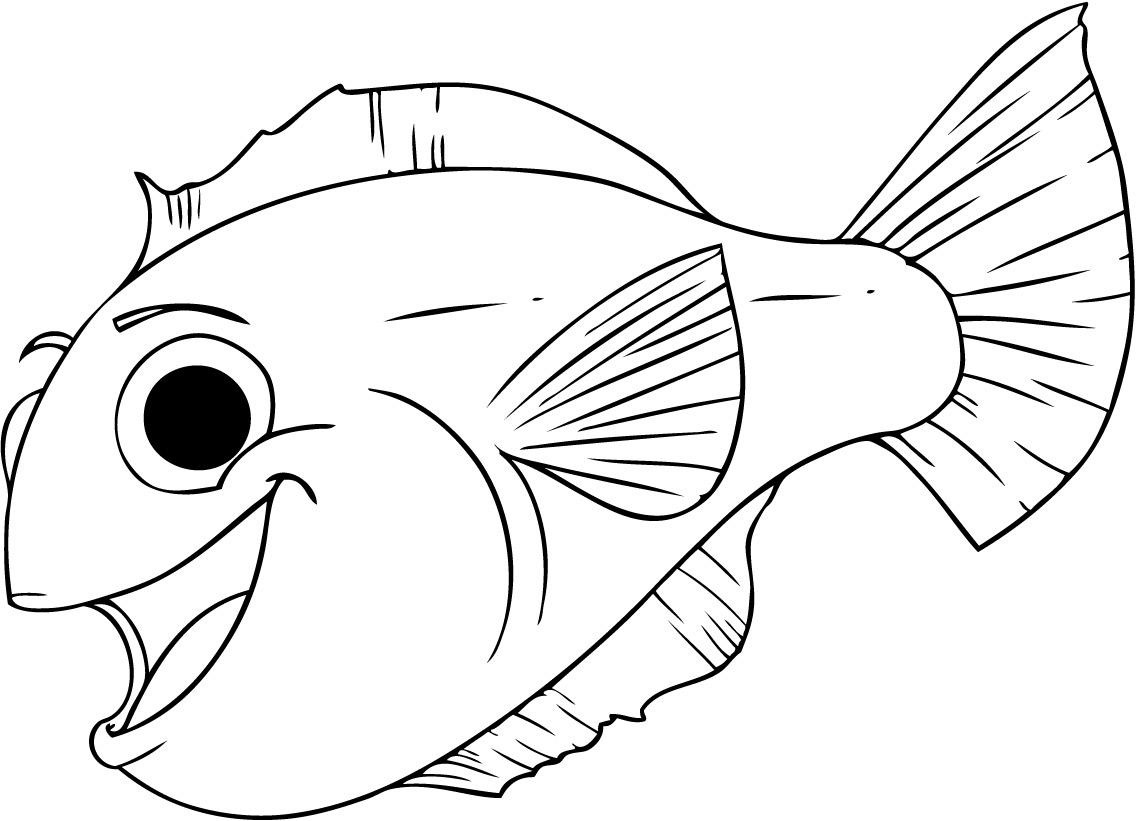 Simple fish coloring pages download