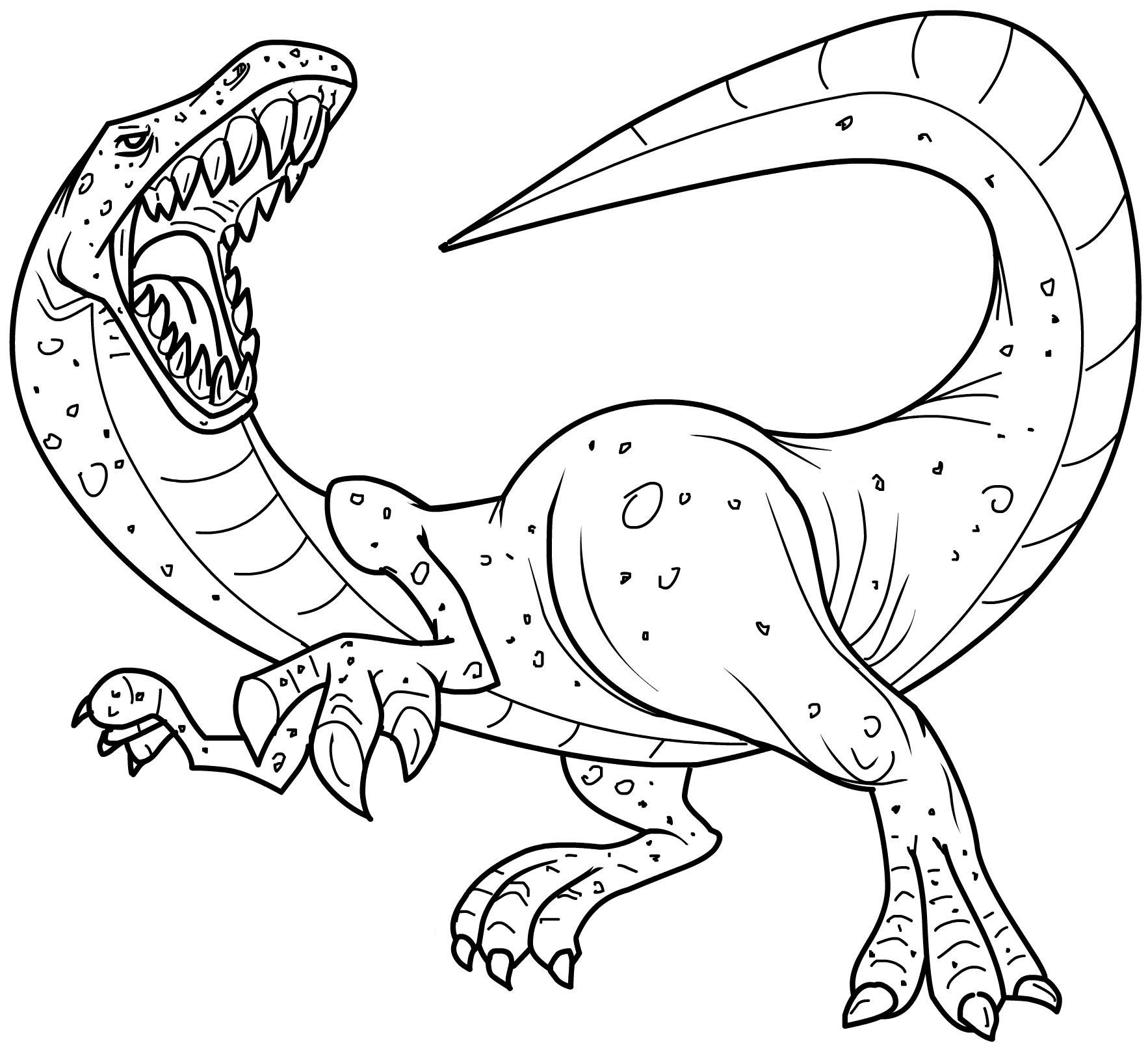 Dinosaur coloring pages to download and print for free