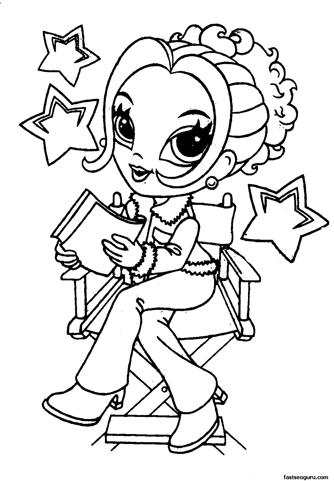 Cute girl coloring pages to download and print for free for Fun coloring pages for girls