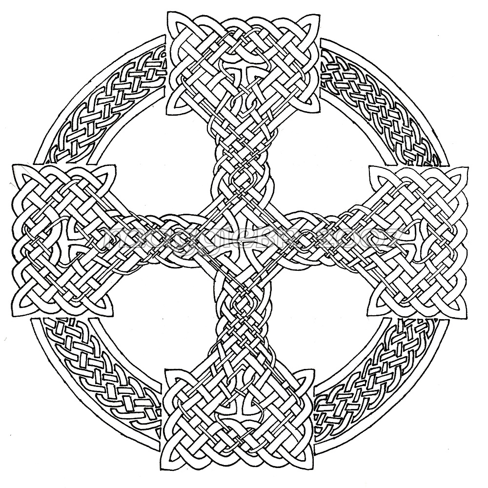 celtic knotwork coloring pages free - photo#38