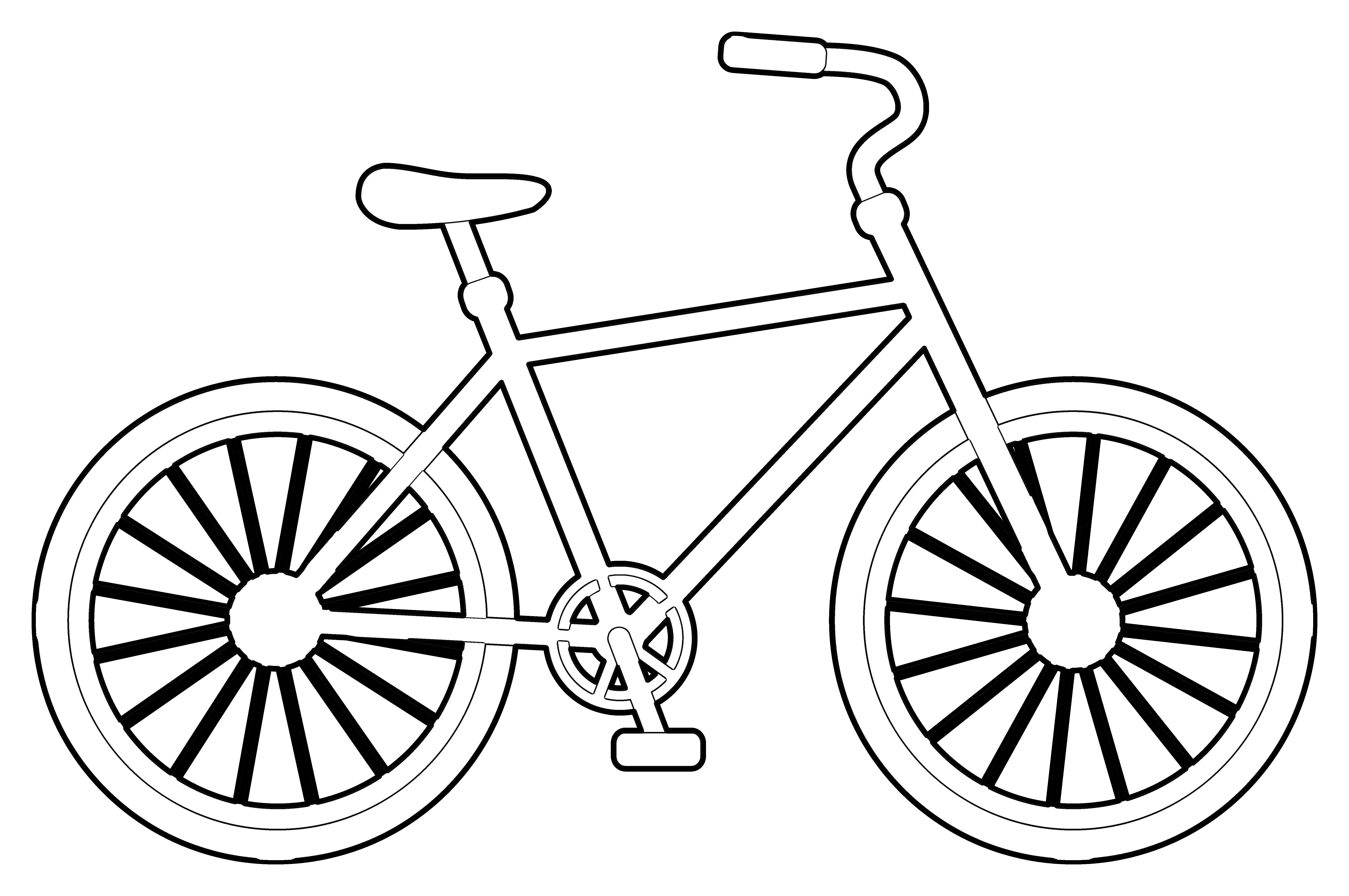 It is an image of Gutsy Bike Coloring Page