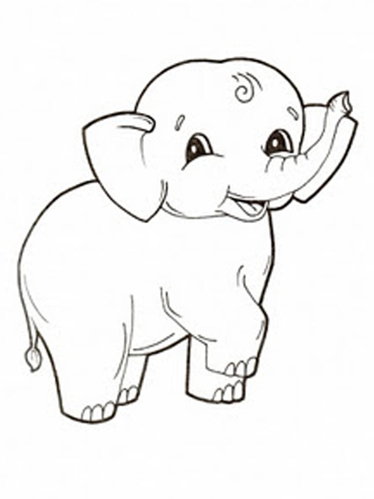 baby elephant coloring pages print - photo#11