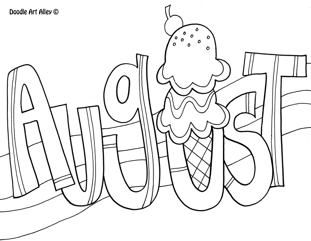 free clip art coloring pages - august coloring pages to download and print for free