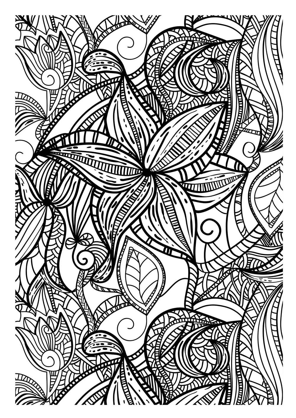 Art therapy coloring pages to download and print for free - Dessin a colorier pour adulte ...