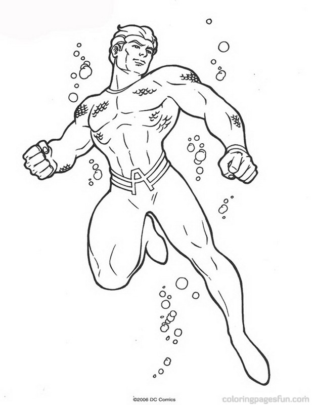Aquaman coloring pages to download