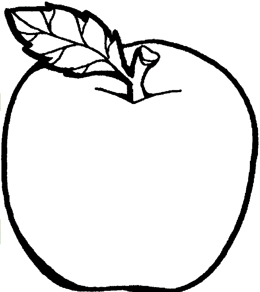 coloring pages about apples - photo#19