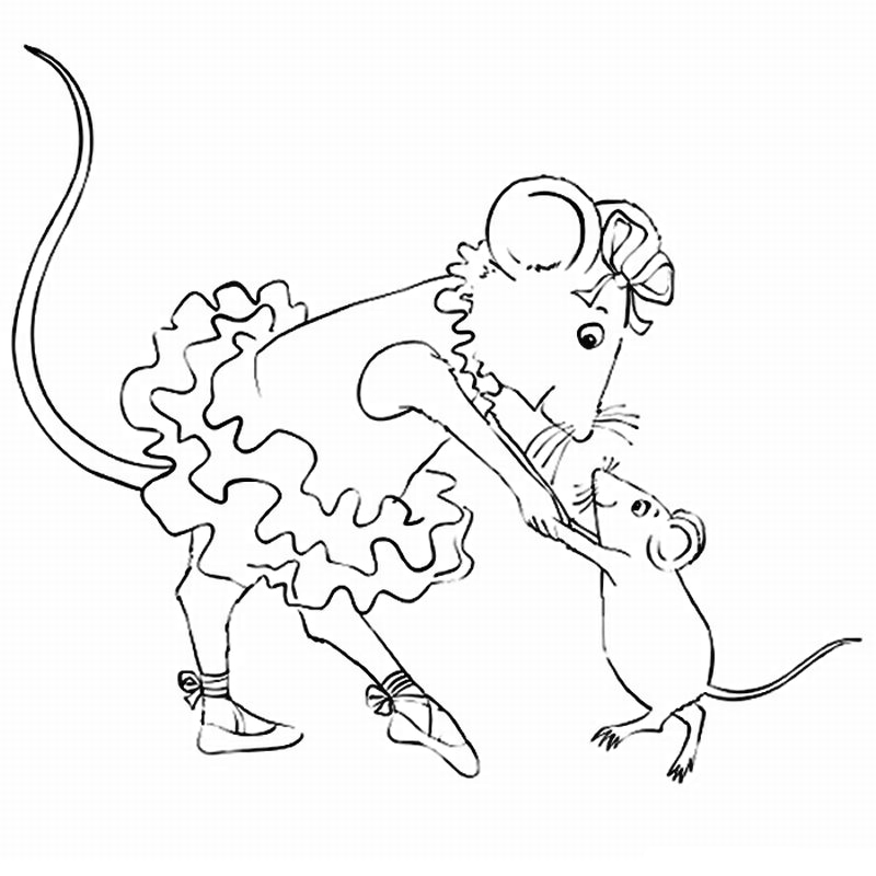 printable coloring pages angelina ballerina - photo#1