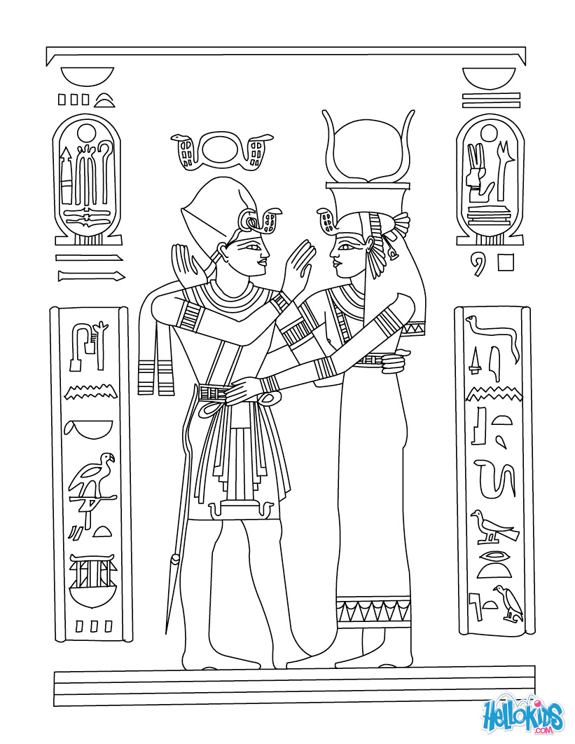Ancient Egypt Coloring Pages To Download And Print For Free Ancient Colouring Pages