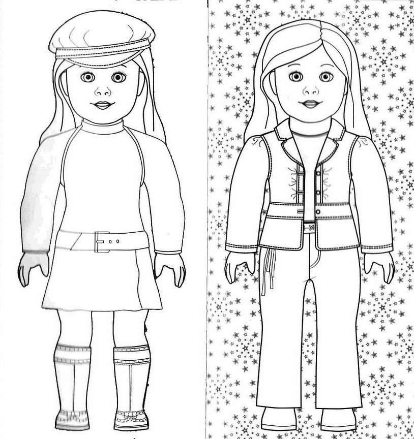 American girl doll coloring pages to download and print