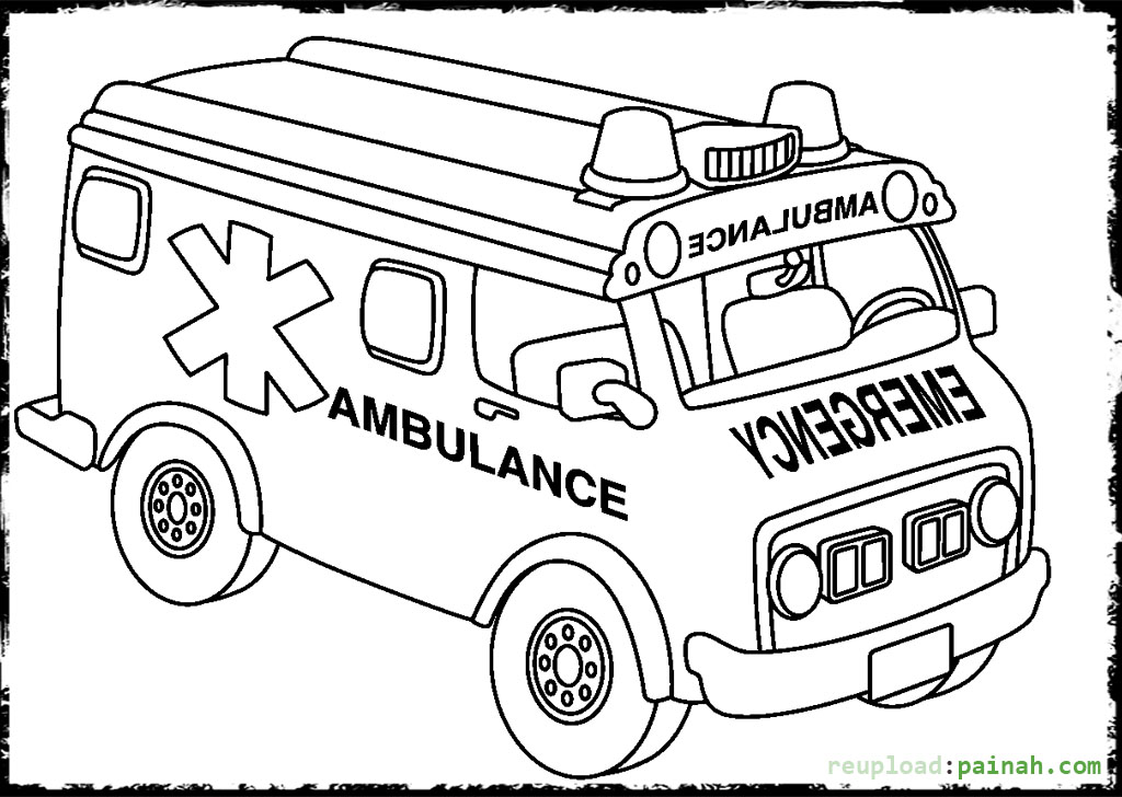 Ambulance coloring pages to download