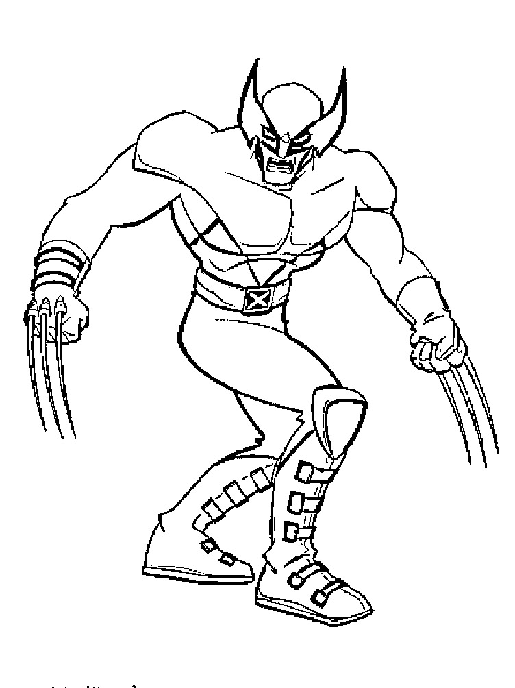 free coloring pages of wolverine - photo#17