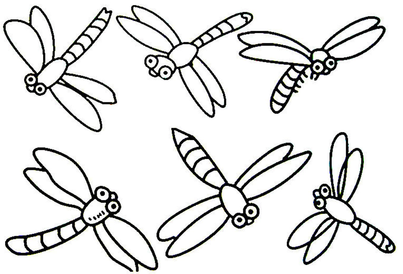 Coloring in dragonflies - Coloring In Dragonflies Dragonflies Coloring Pages Jpg 1360x926 Cartoon Dragonfly Coloring Pages