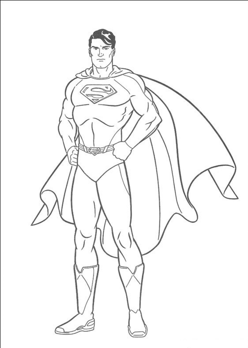 It is an image of Vibrant Superman Coloring Pages Printable