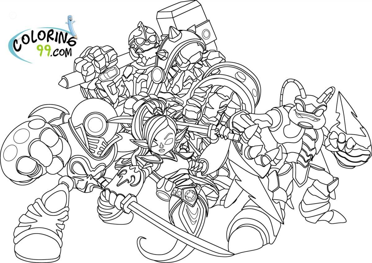 Skylander giant coloring pages