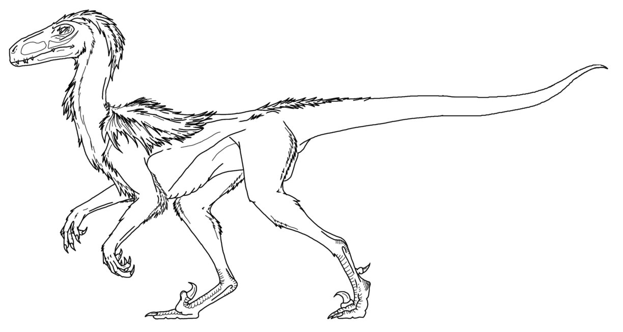 dinosaur raptor coloring pages - photo#26