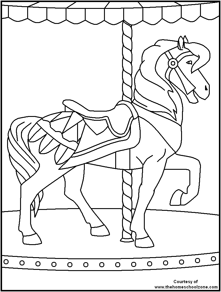 Carnival coloring pages to download and print for free for Printable circus coloring pages