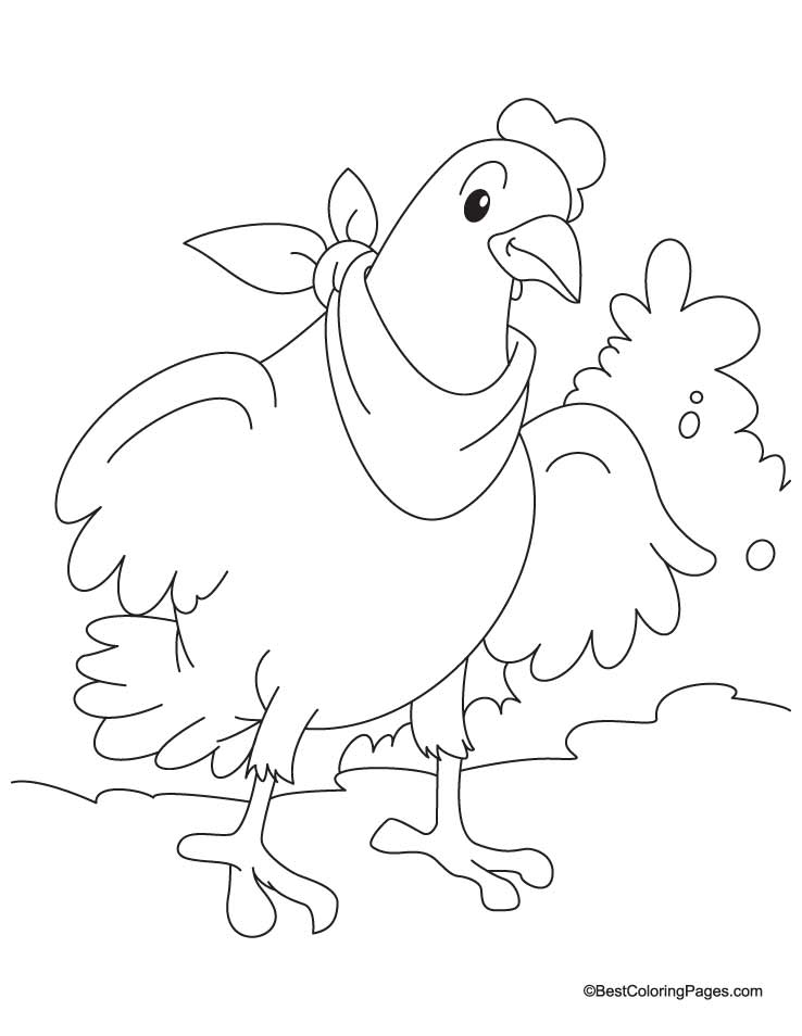 Hens Coloring Pages Download And Print For Free The Hen Coloring Pages