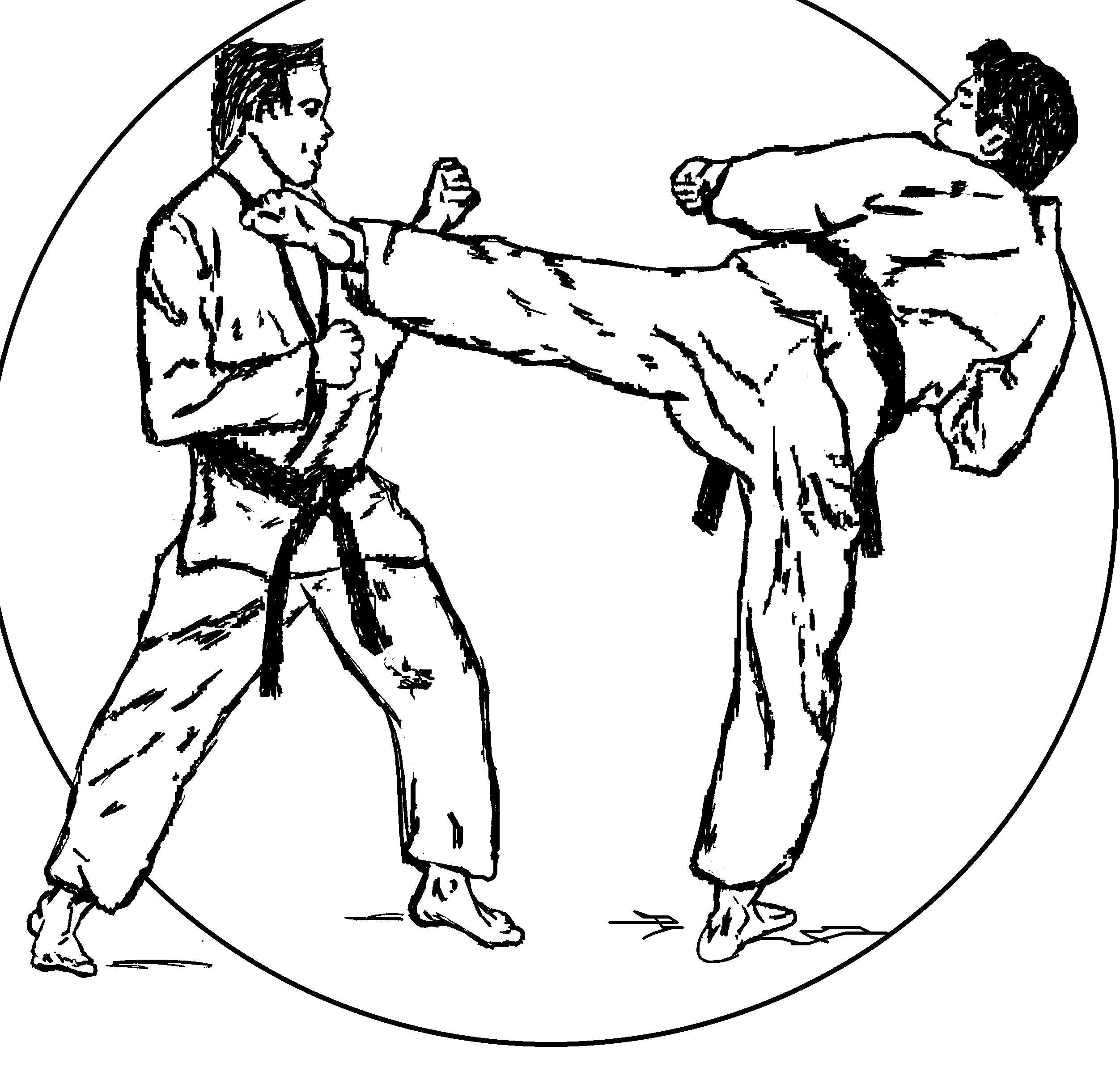 Karate coloring pages download