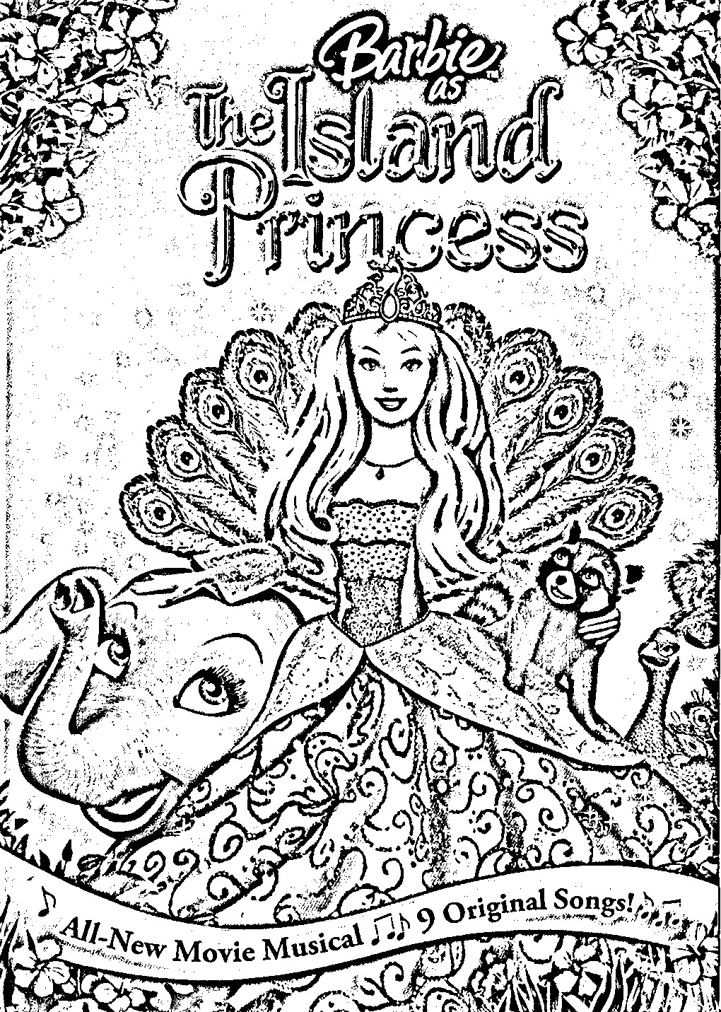 Barbie island coloring pages download