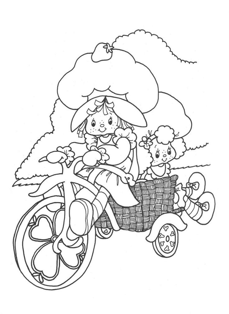 Strawberry shortcake berrykins coloring pages download and