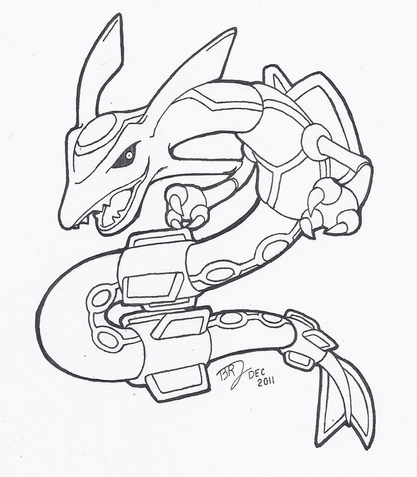 rayquaza coloring pages and print for free