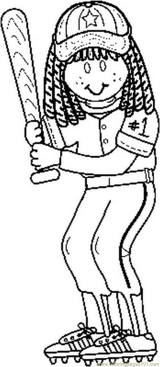 Softball coloring pages to download