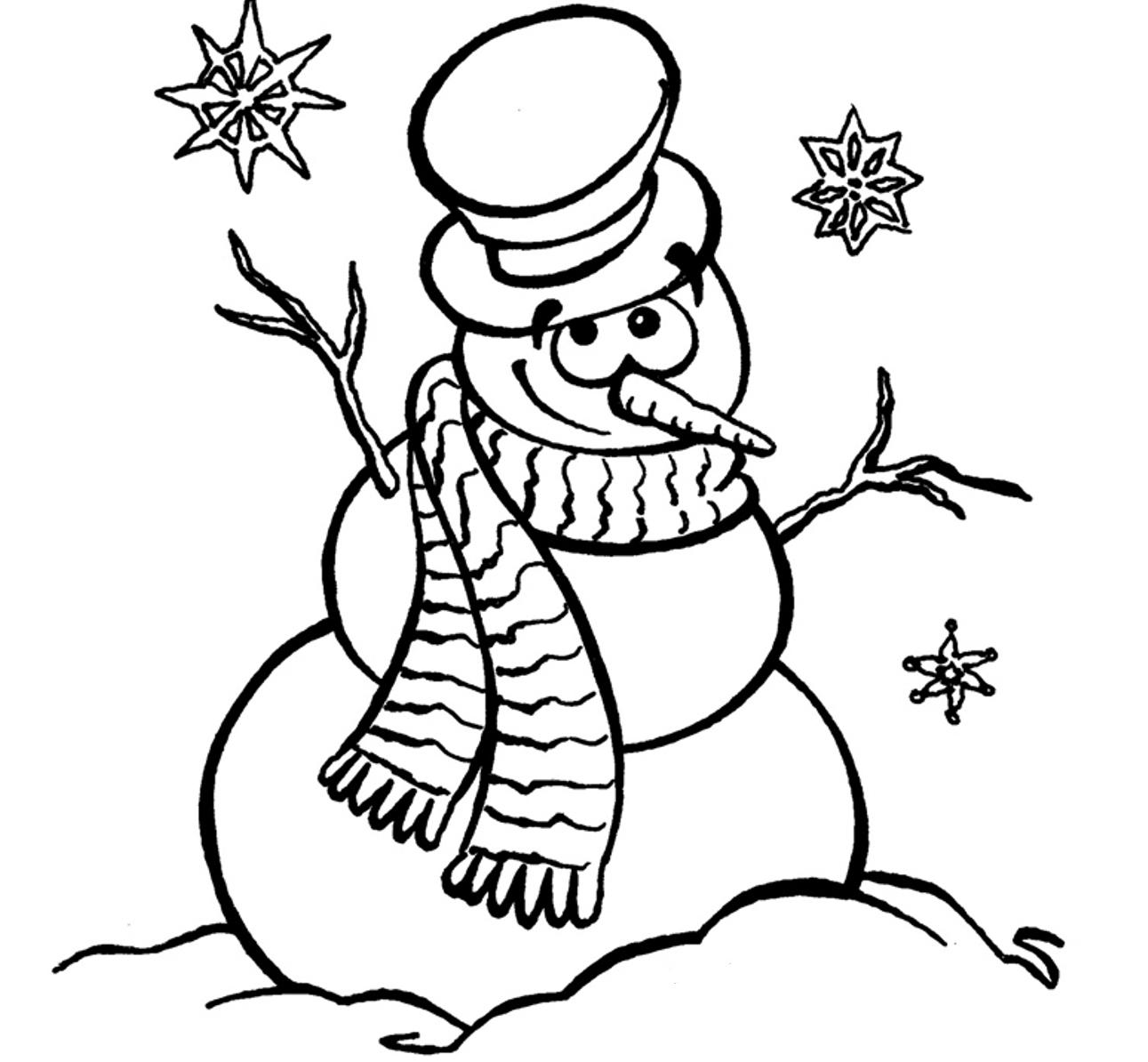 free snowman coloring pages to print for kids download print and color - Coloring Printouts