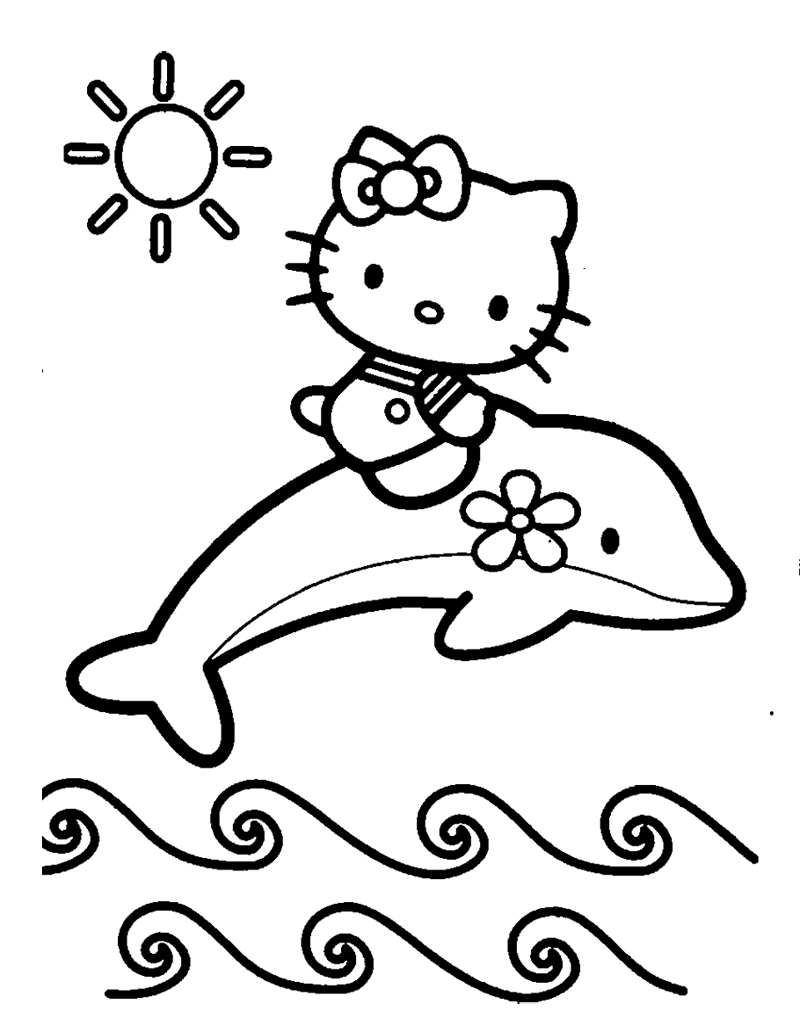 Dolphin coloring pages download