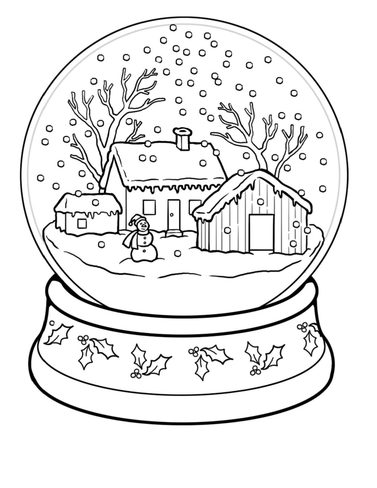 Winter coloring pages to download