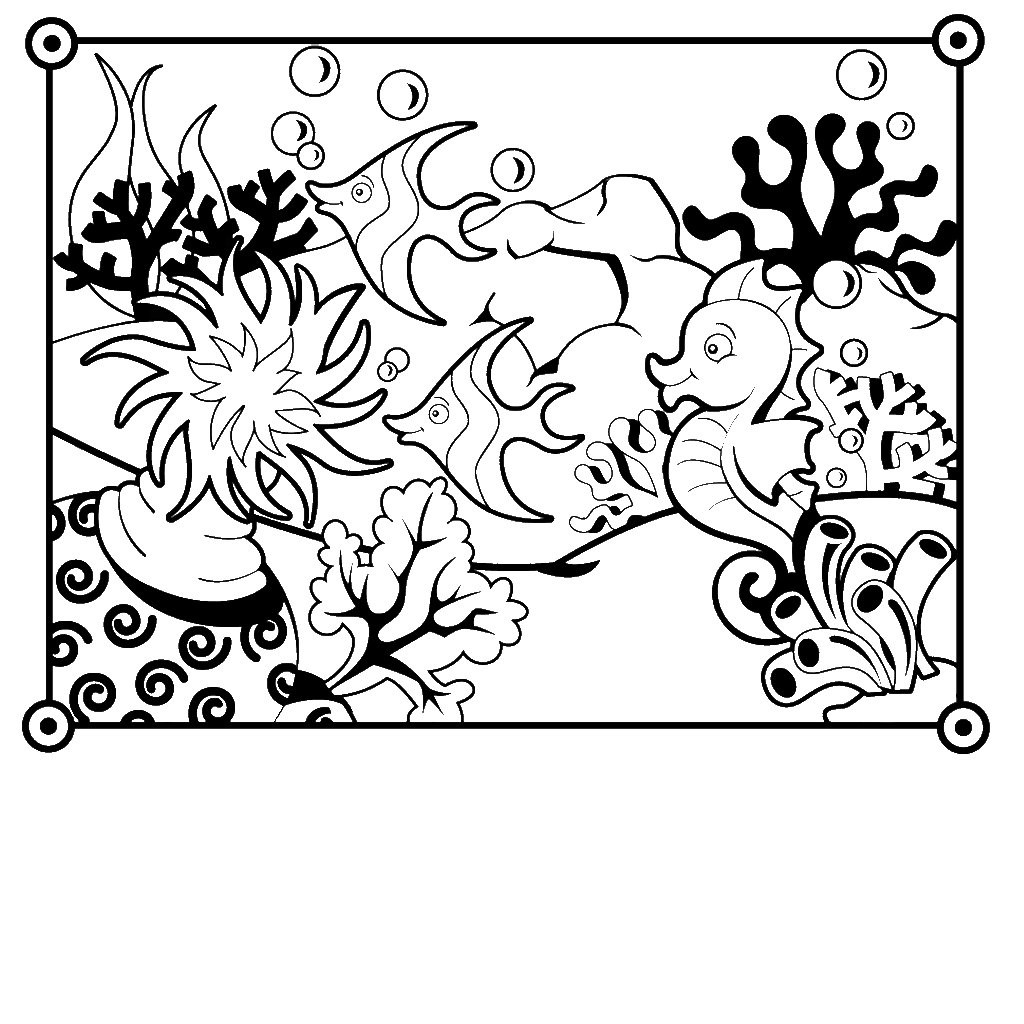 Sea fish coloring pages download