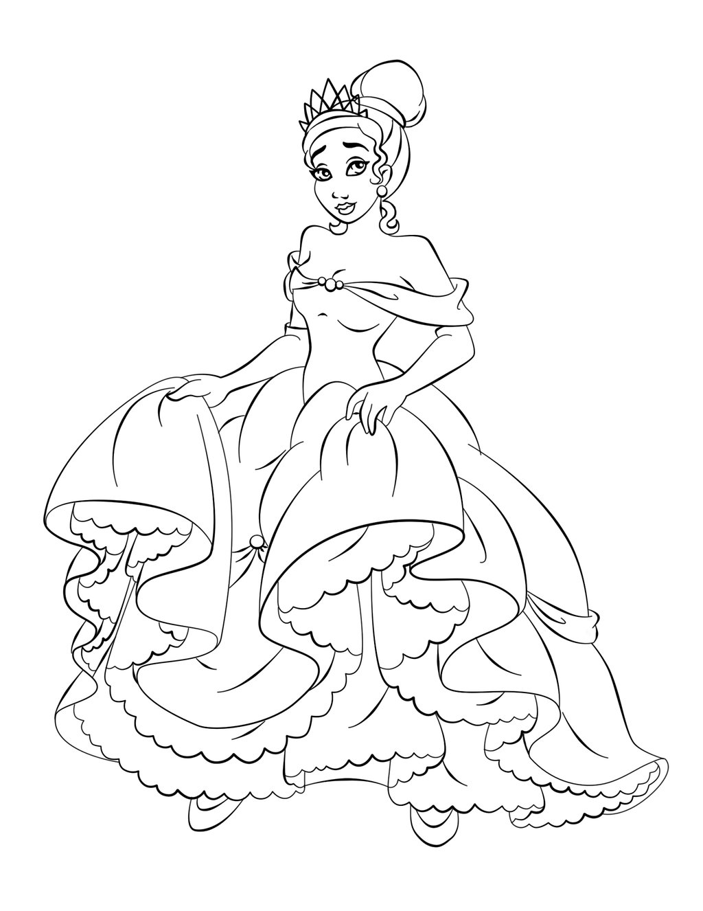 Princess Tiana Coloring Pages Download And Print For Free Coloring Pages Princess