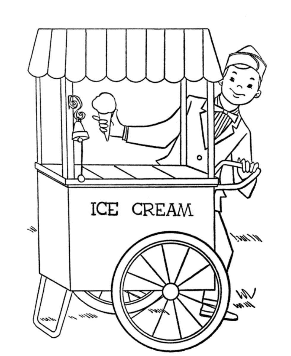 Ice cream parlor coloring pages download and print for free for Coloring pages of ice cream