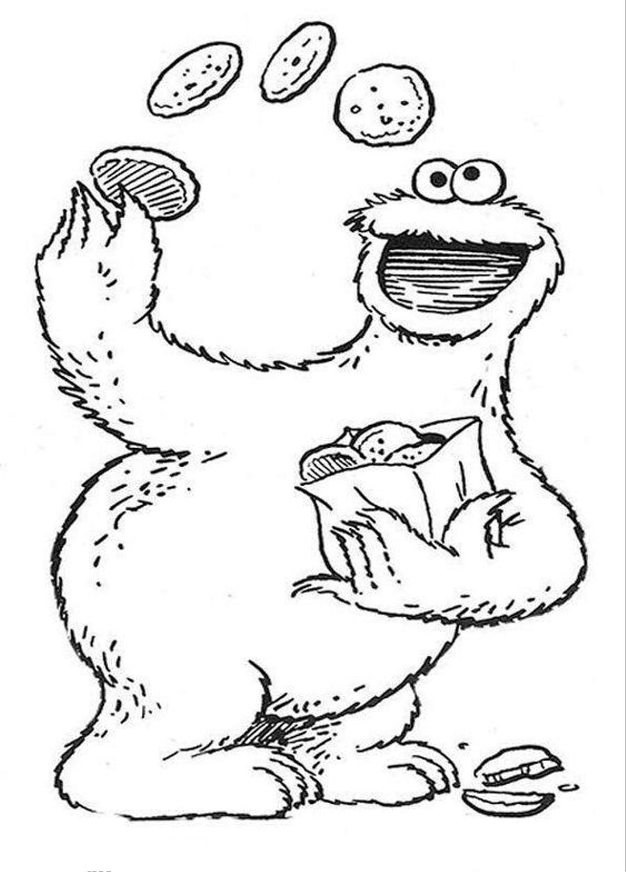 Sesame street coloring pages to download and print for free