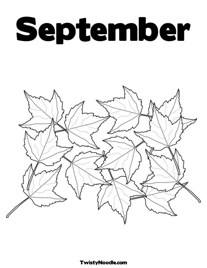september printable coloring pages - photo#6