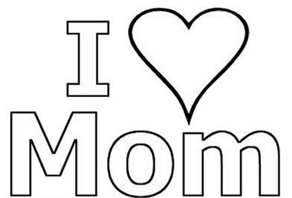 I love you mom coloring pages to download and print for free for Love you coloring pages