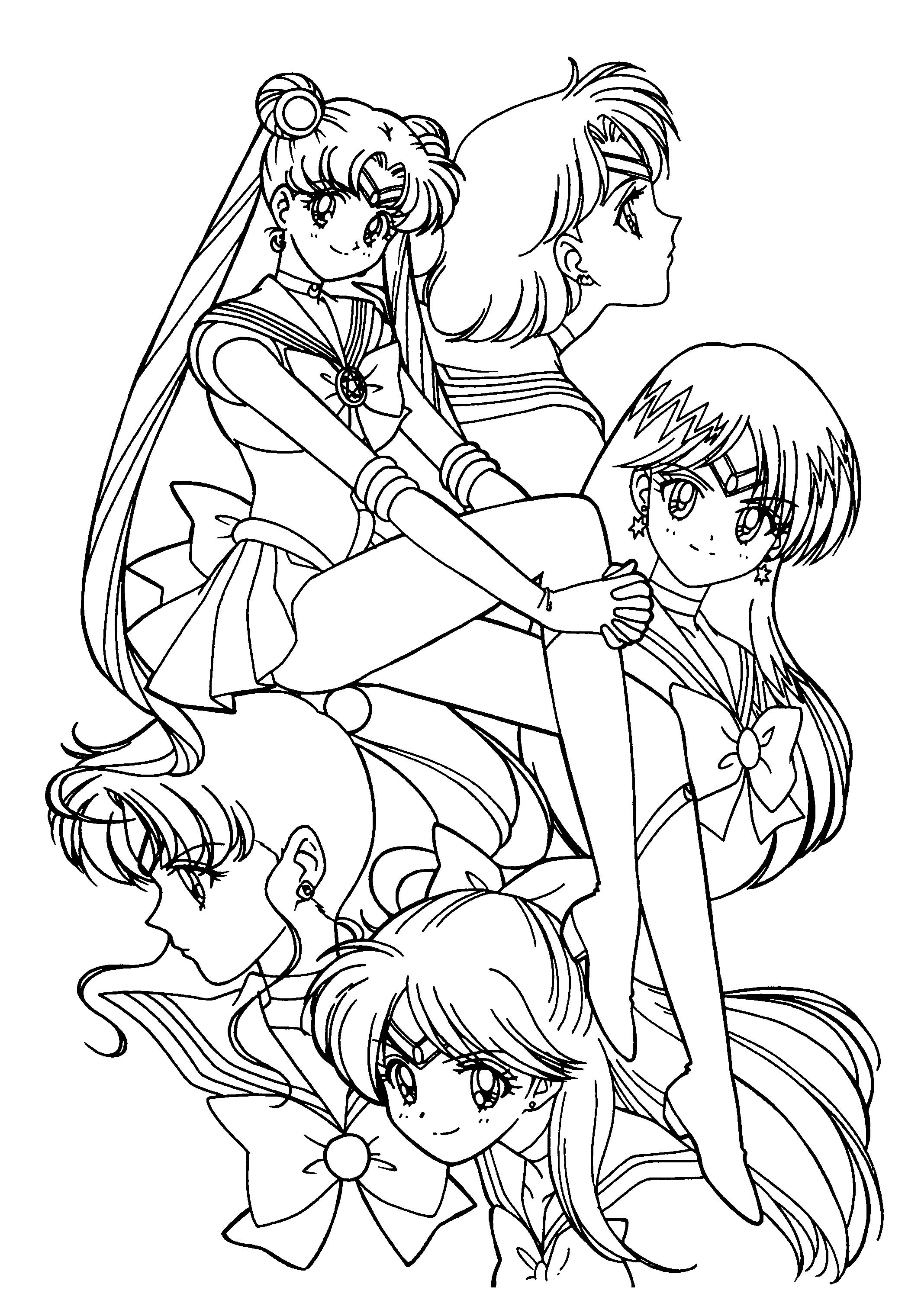 sailor moon coloring pages to download and print for free