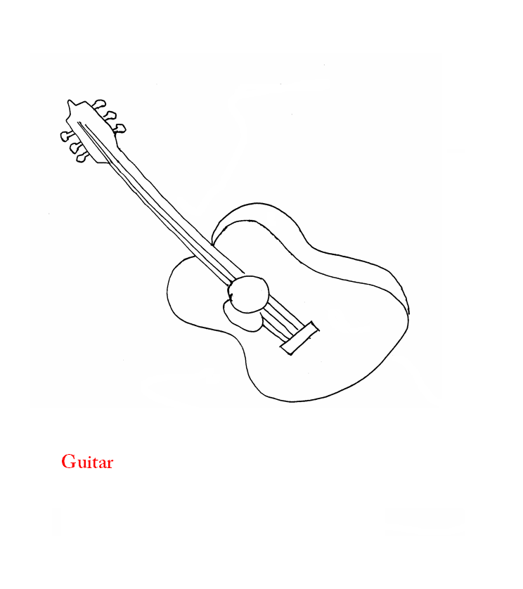Spanish guitar coloring pages download