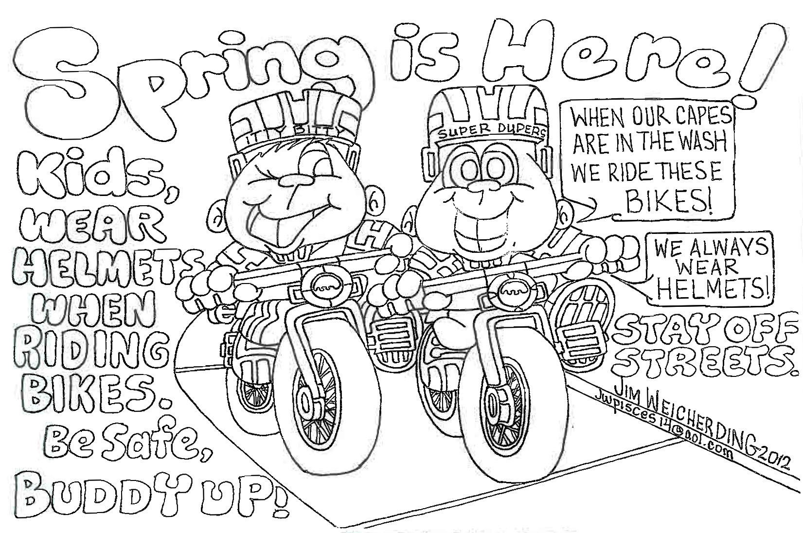Safety coloring pages to download