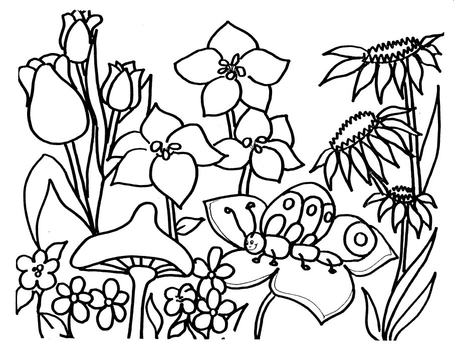 great spring coloring pages - Springtime Coloring Pages