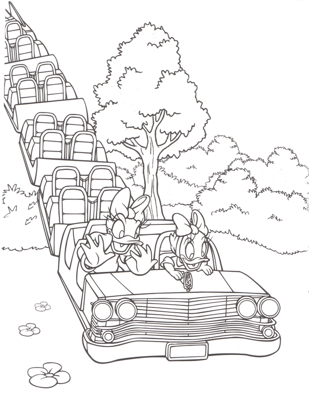Free Roller Coaster Coloring Pages To Print For Kids Download And Color