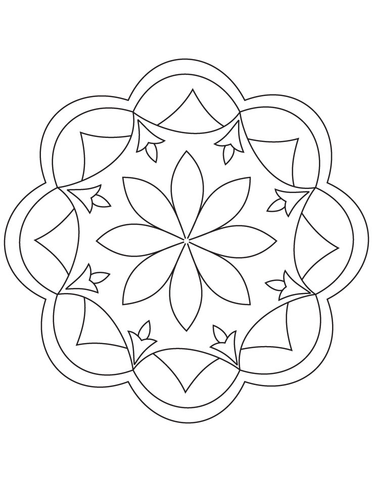 Rangoli coloring pages to download and print for free for Rangoli coloring pages