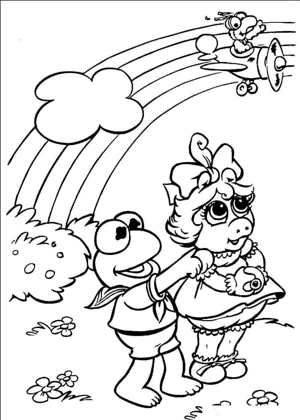 Barbie rainbow coloring pages