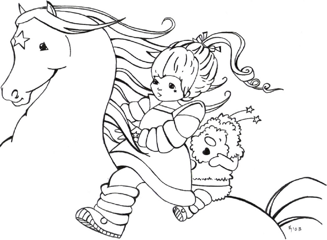 Free coloring pages rainbow - Rainbow Brite Coloring Pages