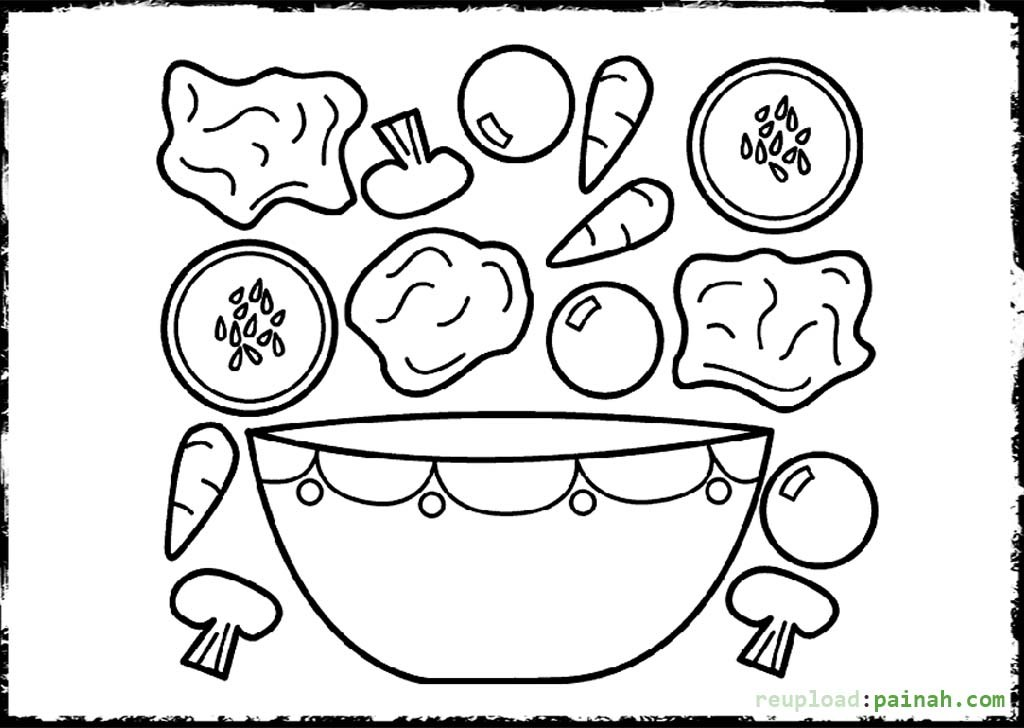 Fruit salad coloring pages download
