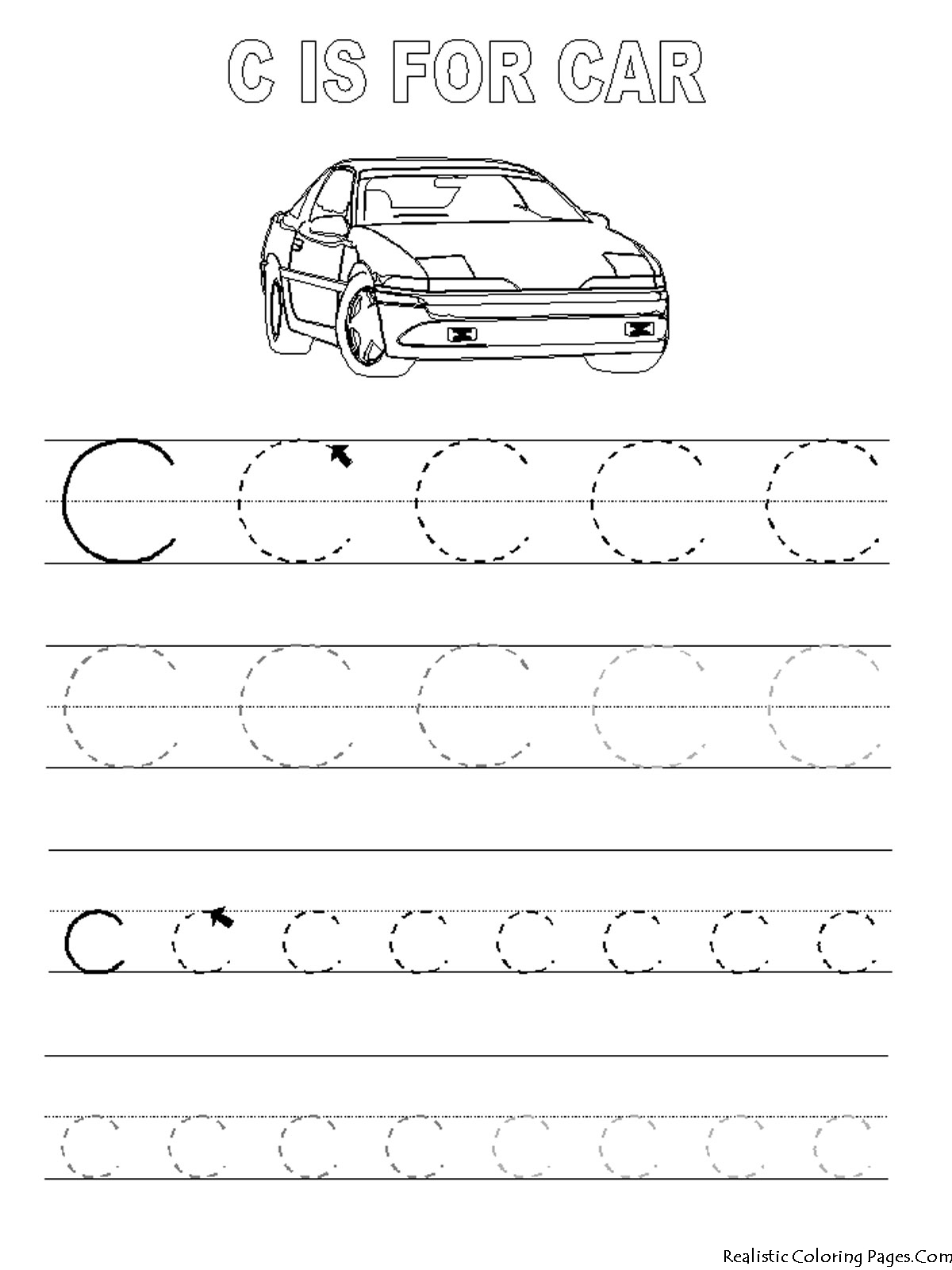 Coloring alphabet printouts - Free Tracing Coloring Pages To Print For Kids Download Print And Color