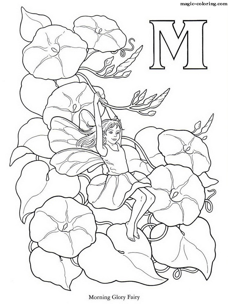 Alphabet flower coloring pages download and print for free