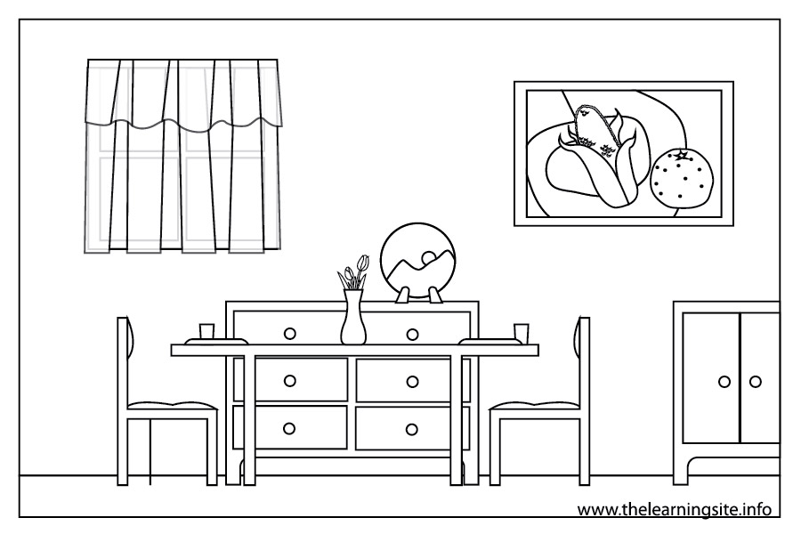 Dining Room Coloring Page