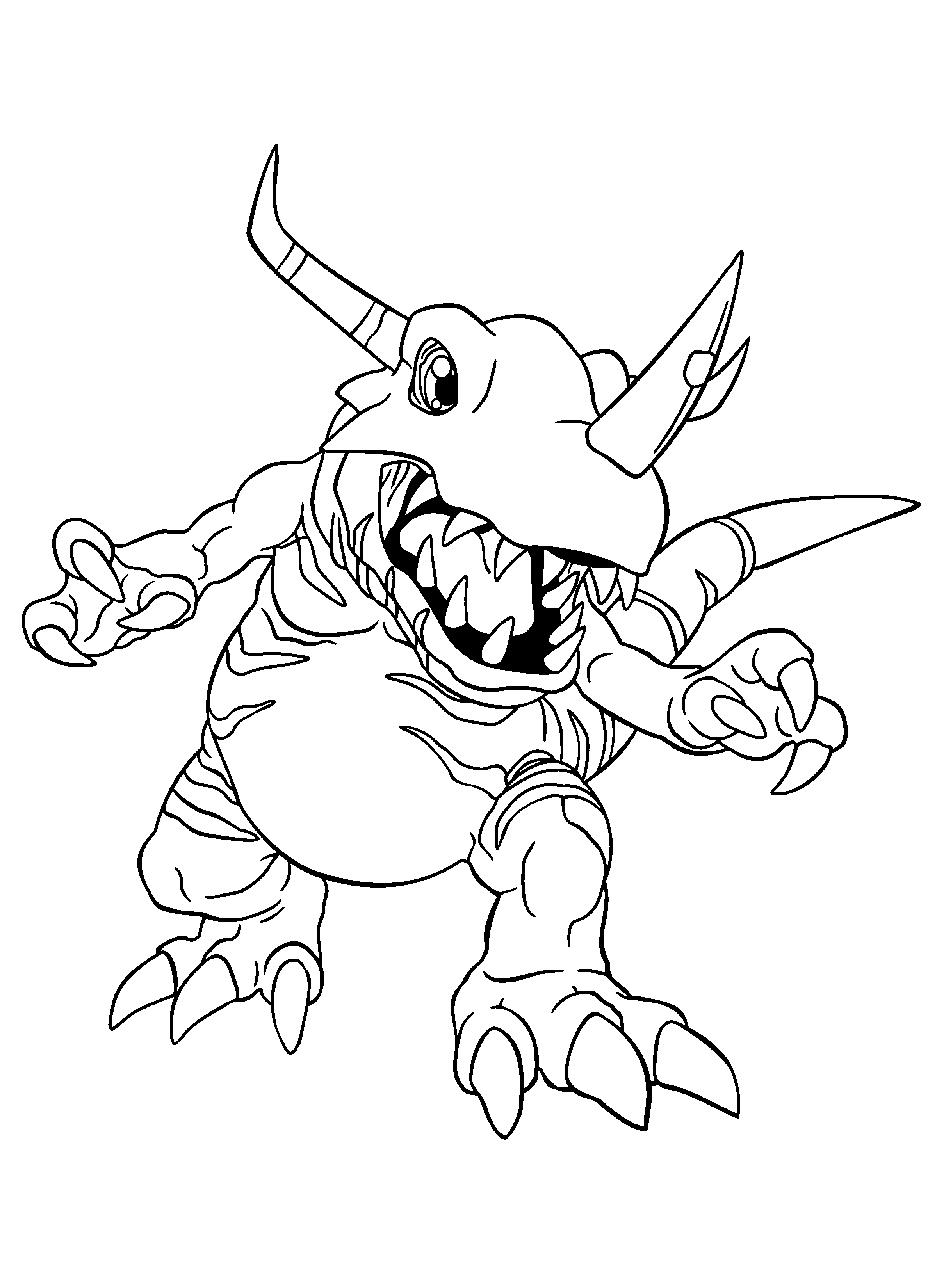Greymon coloring pages download and print for free