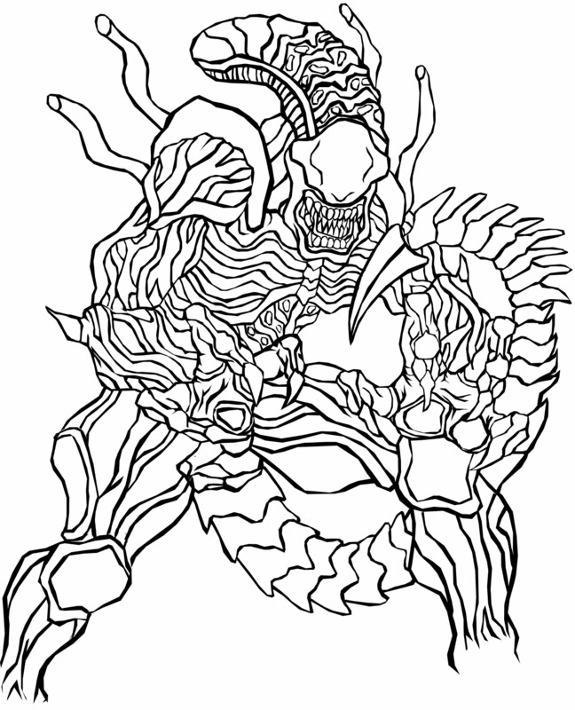 predator coloring pages - photo#7