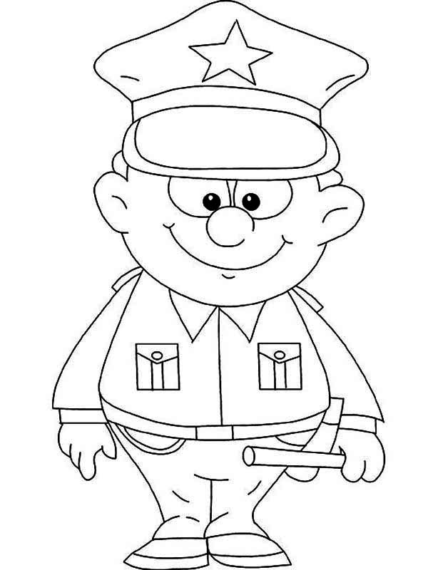 coloring pages of police officer - photo#1